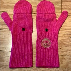 NWOT Juicy Couture Hot Pink Mittens